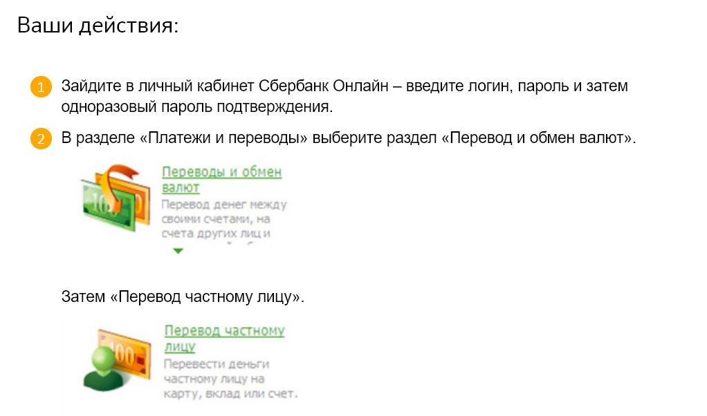 Осуществите перевод со счета, открытого в Сбербанке, на карту через личный кабинет Сбербанк Онлайн