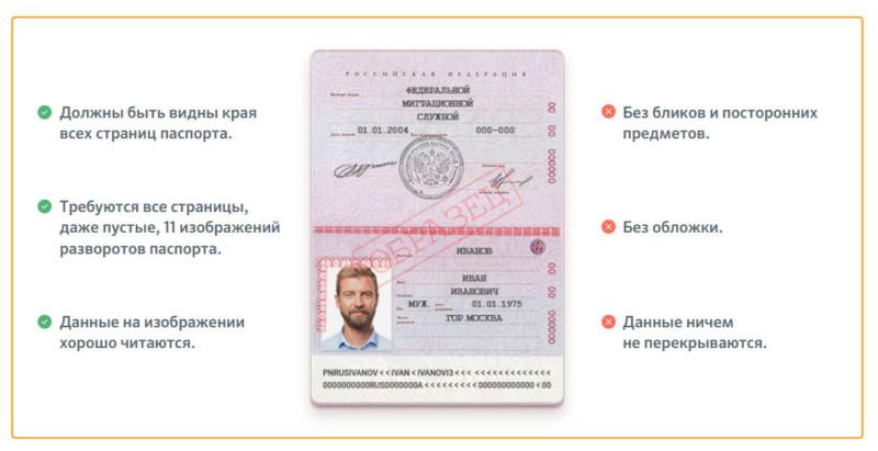 Обратите внимание на требования Сбербанка при загрузке документов