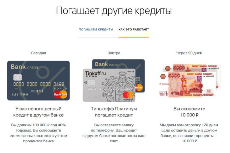Обратите внимание, у кредитных карт Тинькофф есть удобное преимущество - ими без комиссий можно погашать кредиты других банков в рассрочку до 4 месяцев