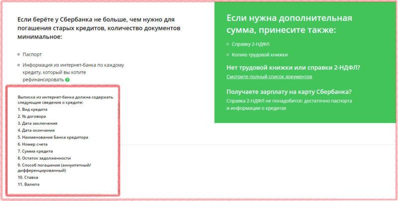 Порядок получения кредита на рефинансирование в Сбербанке