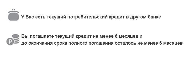 Условия рефинансирования потребительского кредита в Газпромбанке
