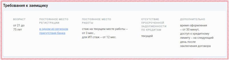 Требования к заемщику по кредитной карте со снятием наличных УБРиР