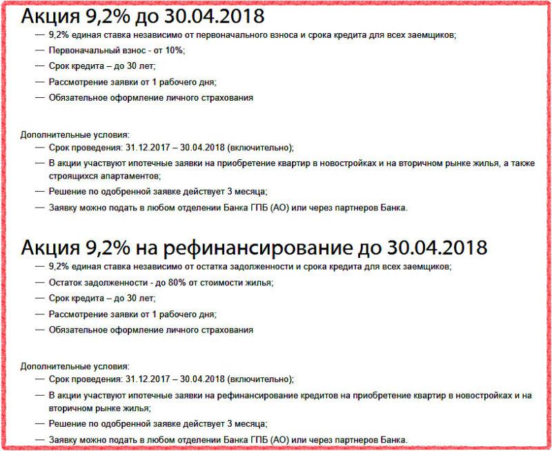 В Газпромбанке постоянно проходят акции по снижению процентной ставки по ипотеке