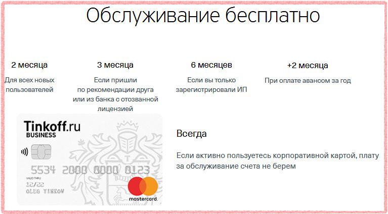 Условия бесплатного обслуживания расчетного счета Тинькофф