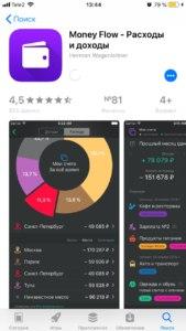 Money Flow - бесплатное приложение для контроля расходов на iphone