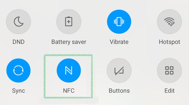 Включение NFC на телефоне
